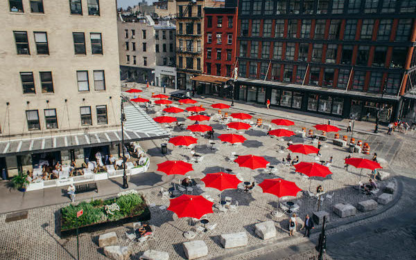 New Meatpacking District Plazas Provide Prodigious Public Space