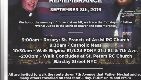 Chelsea's Fallen Honored Along 9/11 Walk of Remembrance Route