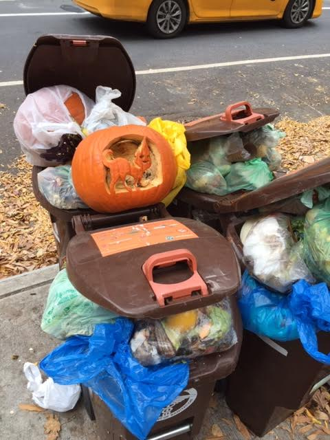 Pumpkin Art Becomes Compost