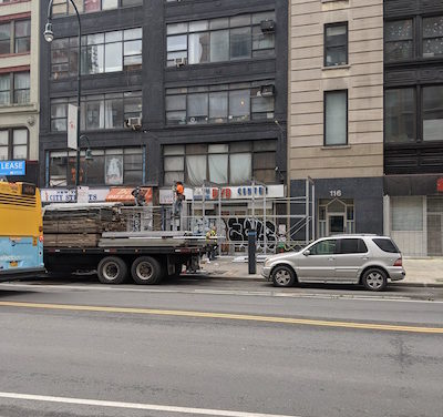On West 14th Street, Scaffolding Heralds Haven for the Homeless