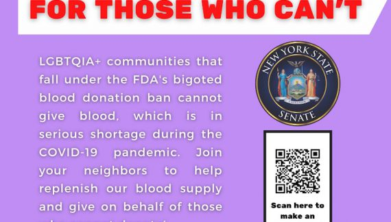 Proxy Pints Help Hoylman Shine Light on Bloody Disgusting Bi/Gay Donor Ban