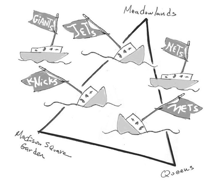 The Bermuda Triangle of NYC Sports