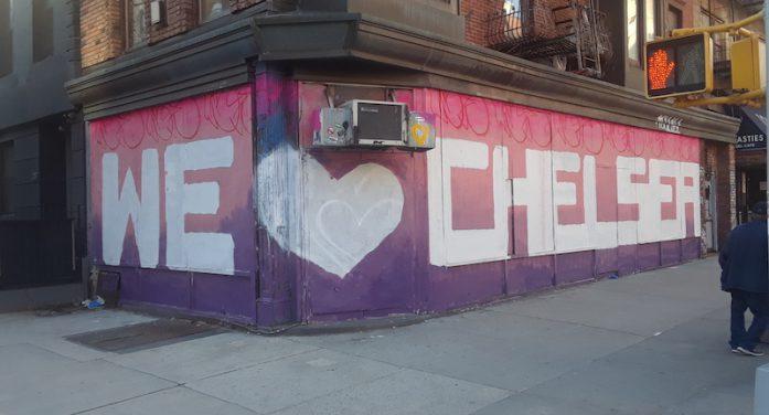 Chelsea-Raised Graffiti/Street Artist's Mural Made with Building Owner's Blessing