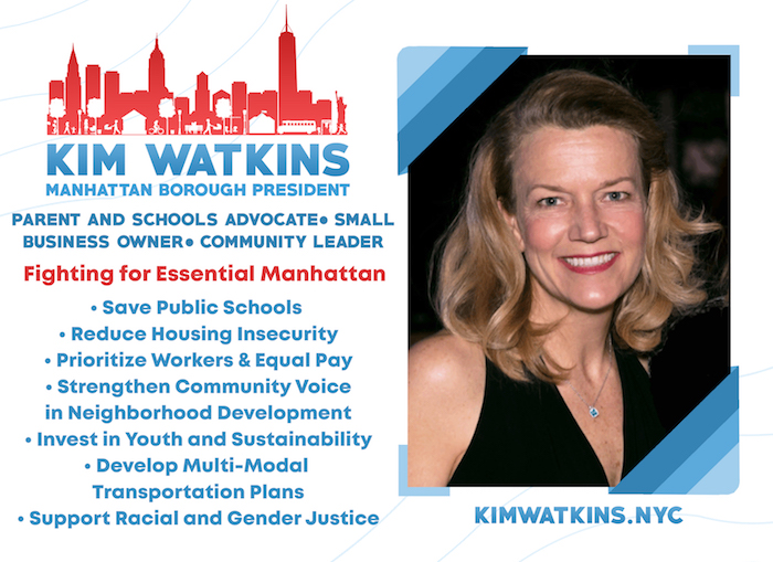 Getting to Know You: Kim Watkins, Candidate for Manhattan Borough President